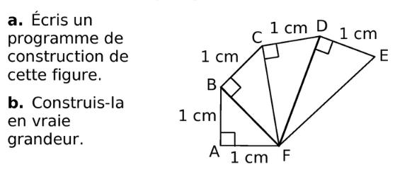 programme de construction et tracés : exercices en 6ème.