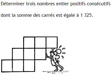 Trouver trois nombres consécutifs : exercices en 3ème.