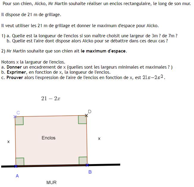 Les fonctions numériques : exercices de maths 3ème (troisième) à imprimer et télécharger en PDF.