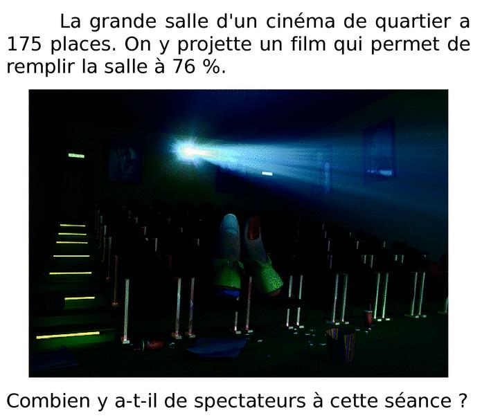 Spectateurs dans une salle de cinéma : exercices en 6ème.
