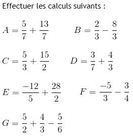 Les Fractions Exercices De Maths 4eme Quatrieme A Imprimer Et Telecharger En Pdf