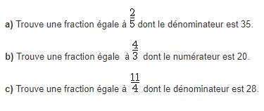 Trouver des fractions : exercices en 5ème.