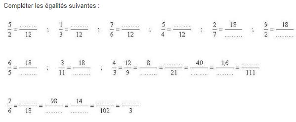 Réduire des fractions : exercices en 5ème.