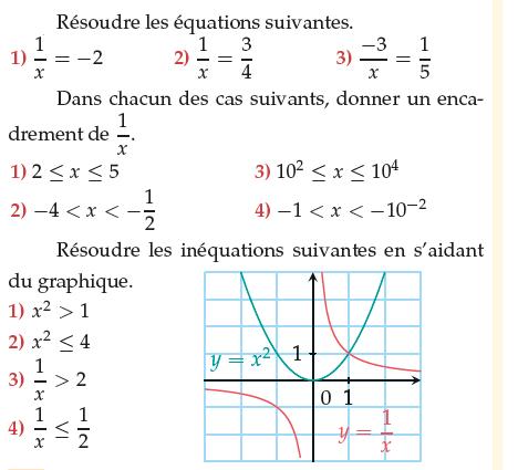 résoudre des équations et des inéquations : exercices en 1ère S.
