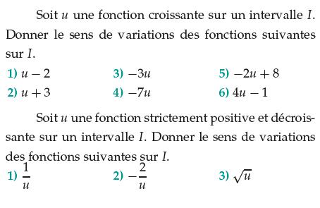 Fonction linéaire, affine et inverse : exercices en 1ère S.