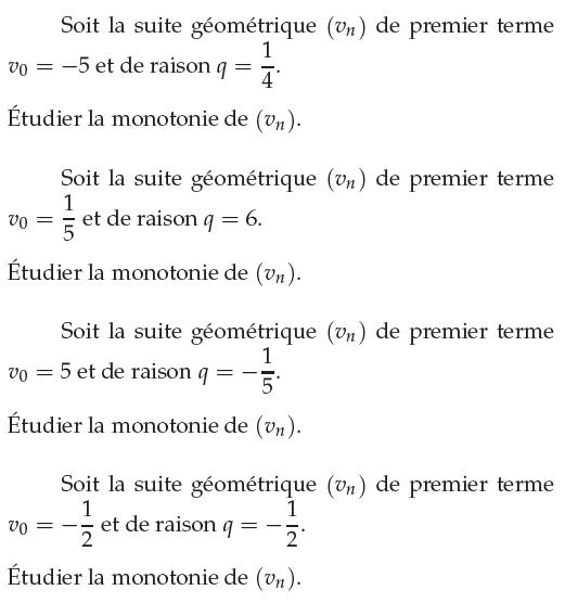 Limite Et Variation D Une Suite Exercices De Maths 1ere S Premiere S A Imprimer Et Telecharger En Pdf