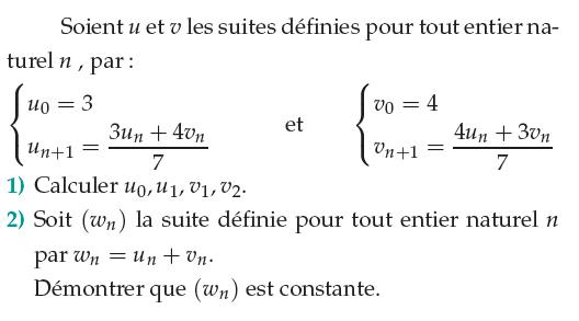 Démontrer qu'une suite récurrente est constante : exercices en 1ère S.