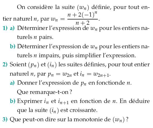 Déterminer l'expression d'une suite : exercices en 1ère S.