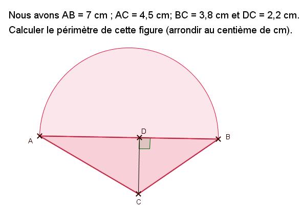 Triangle et demi-cercle : exercices en 6ème.
