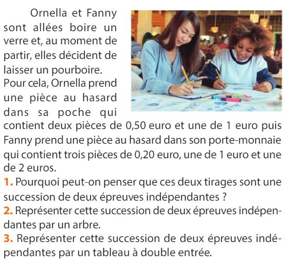 Ornella et Fanny : exercices en 1ère S.