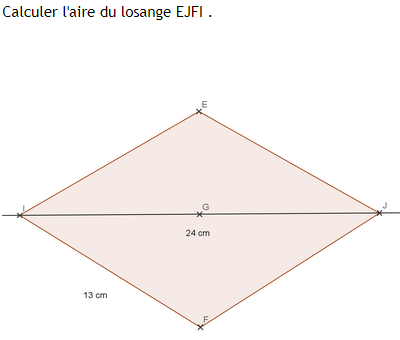 Losange et théorème de Pythagore : exercices en 4ème.