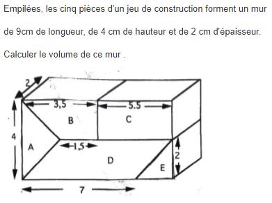 Calculer le volume d'une pièce : exercices en 5ème.