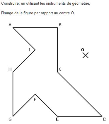 Symétrie centrale - chaussures. : exercices en 5ème.