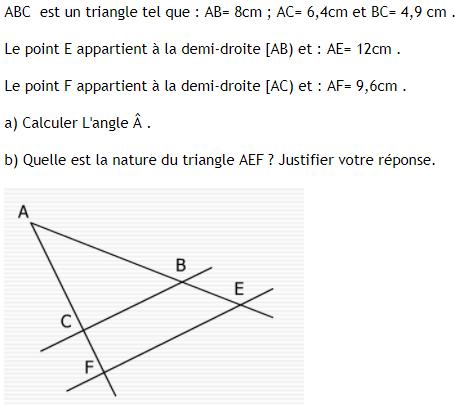 Théorème de thalès et sa réciproque. : exercices en 3ème.