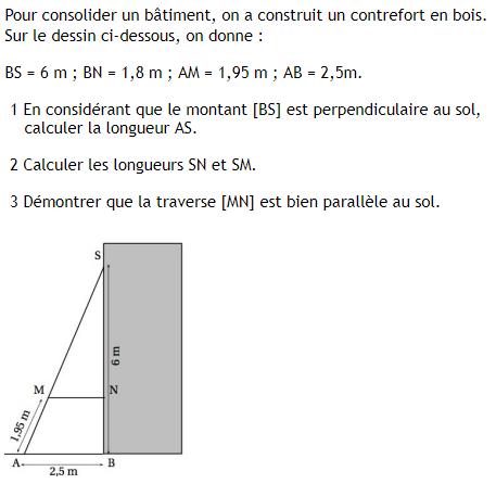 Le Theoreme De Thales Exercices De Maths 3eme Troisieme A Imprimer Et Telecharger En Pdf