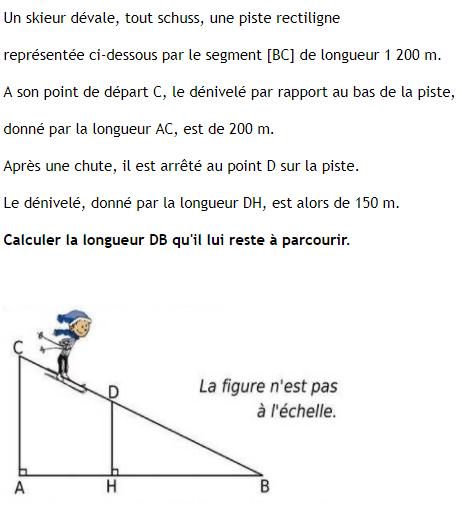 Le théorème de Thalès : exercices de maths 3ème (troisième ...