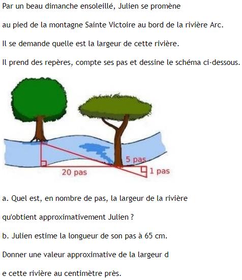 Parcours dans les bois et théorème de Thalès : exercices en 3ème.