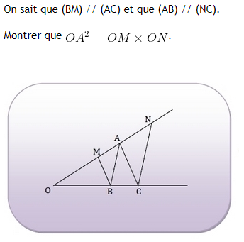 Théorème de Thalès. : exercices en 3ème.
