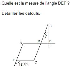 Calculer la mesure d'un angle : exercices en 5ème.