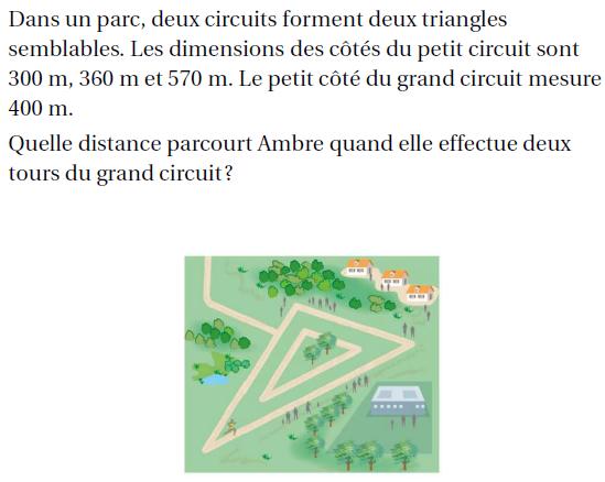 Deux circuits forment des triangles semblables : exercices en 4ème.
