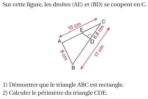 Démonstration et géométrie : exercices en 4ème.