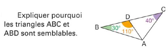 Démontrer que des triangles sont semblables : exercices en 4ème.
