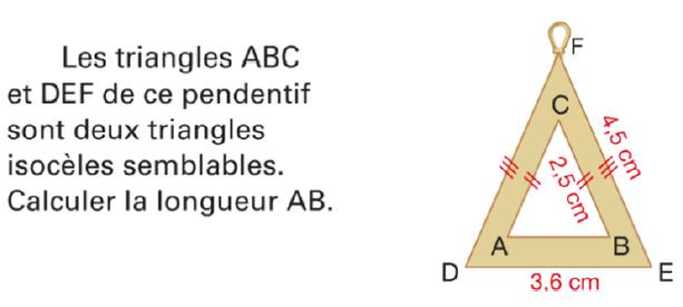 Calculer la longueur AB : exercices en 4ème.
