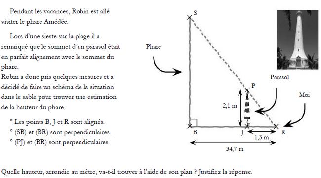 Théorème de Thalès : exercices en 3ème.