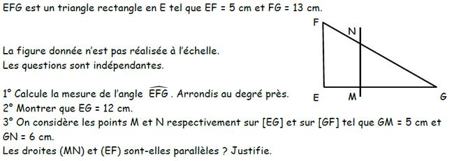 Trigonométrie et théorème de Thalès : exercices en 3ème.