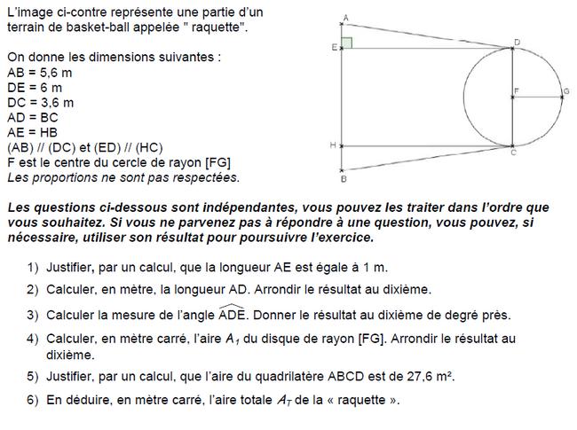 Trigonométrie, Pythagore et Thalès : exercices en 3ème.