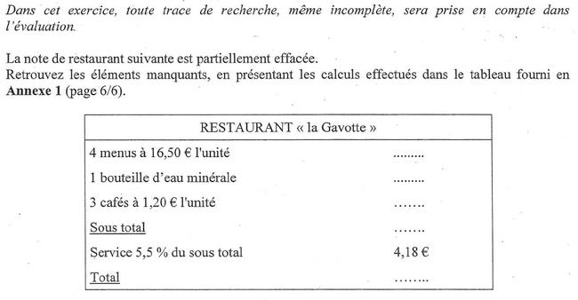 Pourcentages et facture : exercices en 3ème.