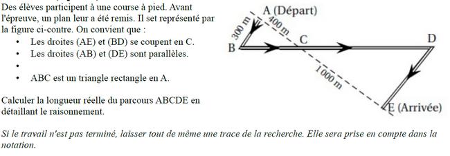 Théorème de Thalès et de Pythagore : exercices en 3ème.