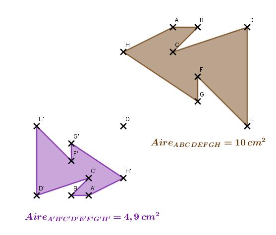 Calcul du rapport d'une homothétie : exercices en 3ème.