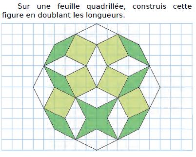 Construire cette figure à la règle et au compas : exercices en CM2.