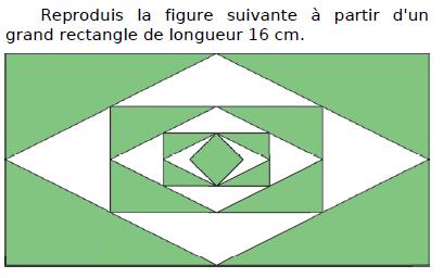 Tracer cette figure à partir d'un rectangle : exercices en CM2.