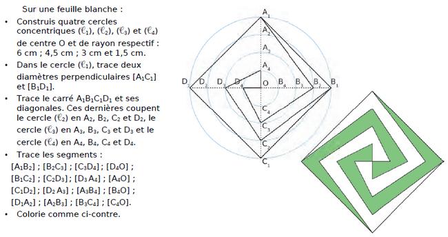 Construire cette figure pas à pas : exercices en CM2.