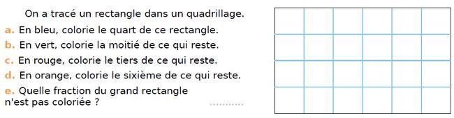 Un rectangle avec du quadrillage : exercices en CM1.