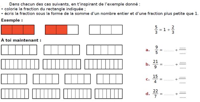 Colorier les ractangles : exercices en CM2.