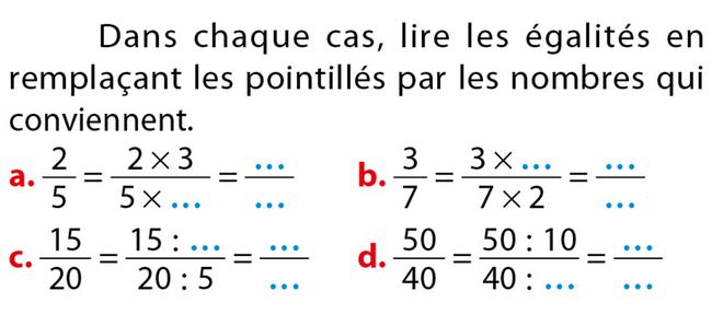 Les Fractions Exercices De Maths 5eme Cinquieme A Imprimer Et Telecharger En Pdf