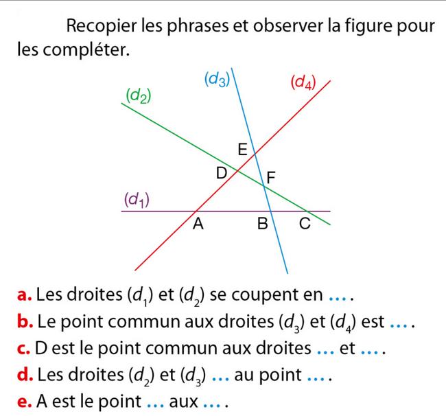 Segments, droites et constructions : exercices de maths 6ème (sixième) à imprimer et télécharger ...