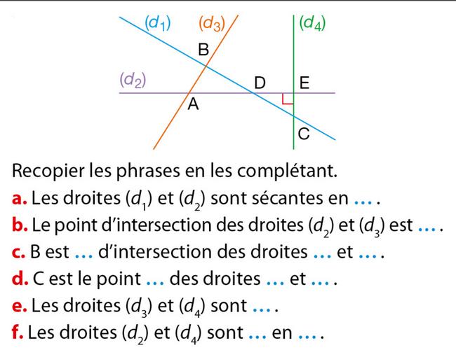 Segments, droites et constructions : exercices de maths ...