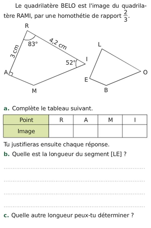 Les homothéties : exercices de maths 3ème (troisième) à imprimer et télécharger en PDF.