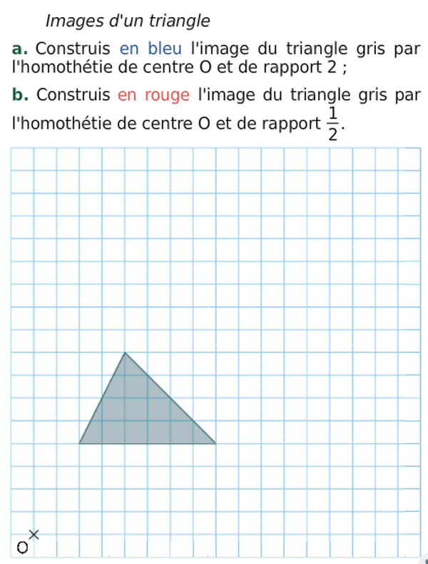Image d'un triangle : exercices en 3ème.