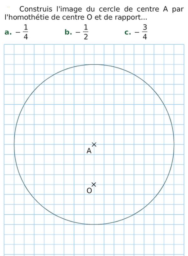 Image d'un cercle : exercices en 3ème.