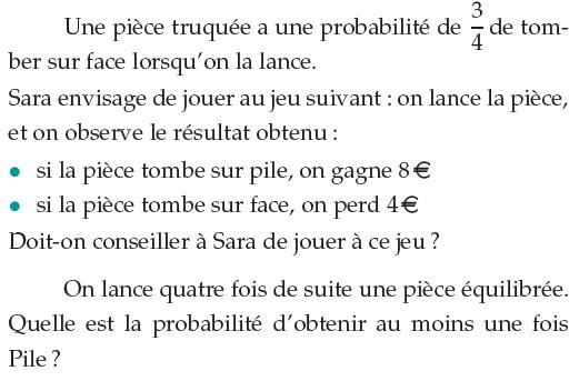 Pièce truquée et probabilité : exercices en 1ère S.