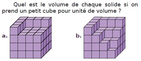 Quel est le volume de ces solides? : exercices en CM2.