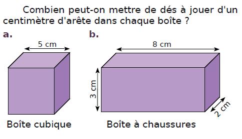 Parallélépipède rectangle  : exercices en CM2.