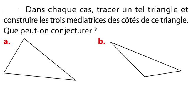 Tracer les médiatrices d'un triangle : exercices en 5ème.