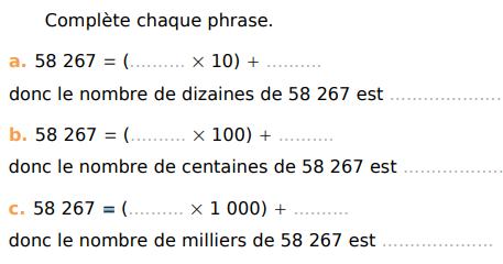 Décomposer un entier : exercices en CM1.