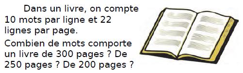 Problème du livre : exercices en CM2.